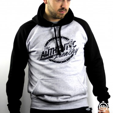 Hoodie AUTHENTIC noir & gris Mixte