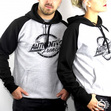 Hoodie AUTHENTIC black & grey Unisexe