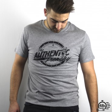 Tshirt AUTHENTIC gris chiné MC