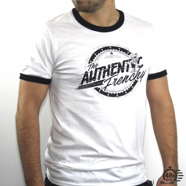 Tshirt AUTHENTIC ringer black & white SS