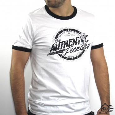 Tshirt AUTHENTIC ringer noir & blanc MC