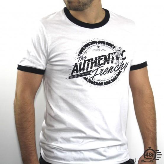 Tshirt AUTHENTIC ringer black & white SS
