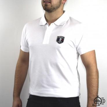 Polo CLASSIC SKULL white & black