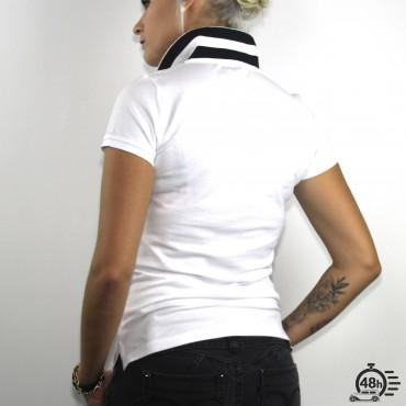 Polo CLASSIC SKULL blanc & noir Femmes