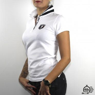 Polo CLASSIC SKULL white & black Womens