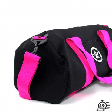 Bag vintage STAR black & fuchsia