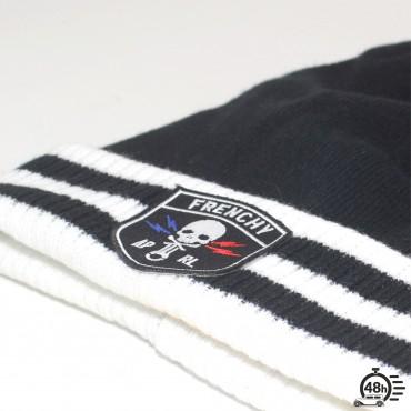Beanie CLASSIC SKULL varsity black & white