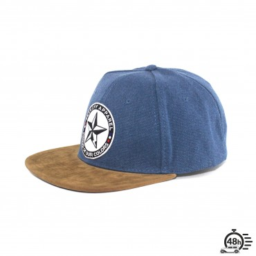 Cap snapback denim STAR blue