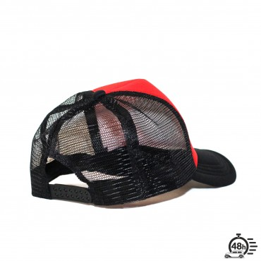 Casquette Trucker STAR red & black