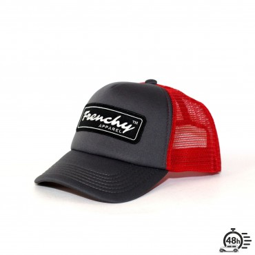 Casquette Trucker NAME red & grey