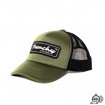Casquette Trucker NAME olive & black