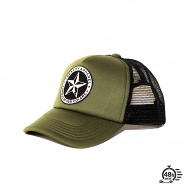 Casquette Trucker STAR olive & black