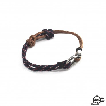 Bracelet Hook adjustable tricolor navy blue