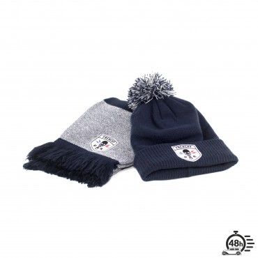 Package CLASSIC SKULL navy blue scraf & beanie