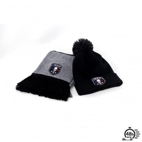 Pack CLASSIC SKULL noir écharpe   bonnet 35cdba6b62b
