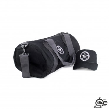 Package STAR bag & trucker cap black & grey
