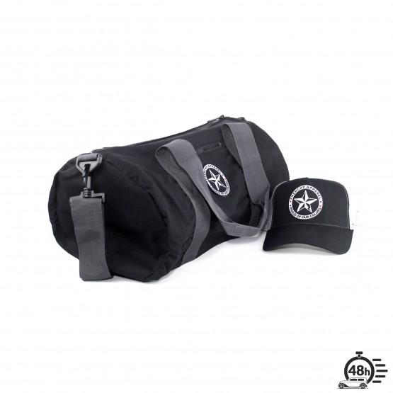 Package STAR bag & trucker cap black & grey