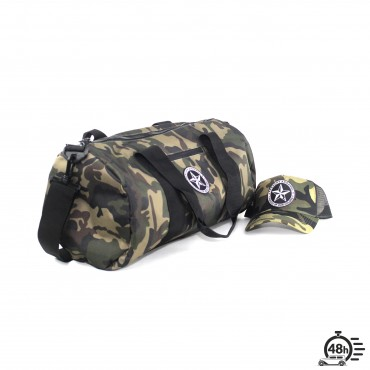 Package STAR bag & trucker cap olive camo