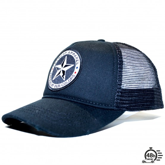 Cap Truckerused black logo star