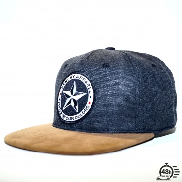 Cap snapback denim STAR black