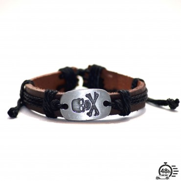 Bracelet Skull adjustable black
