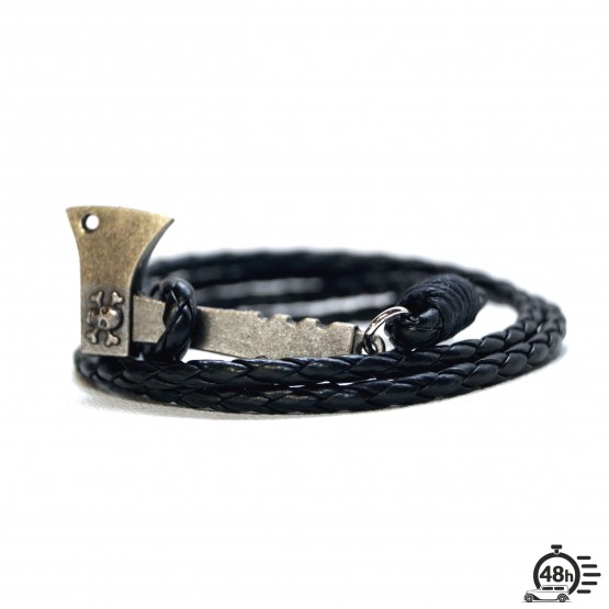Bracelet Hatchet & Skull black