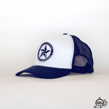 Casquette Trucker STAR blue & white