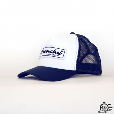 Casquette Trucker NAME blue & white