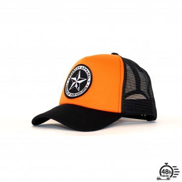 Casquette Trucker STAR orange & black