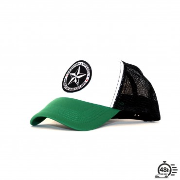 Casquette Trucker STAR tricolor green