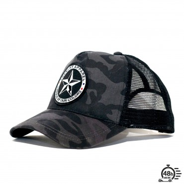 Casquette Trucker STAR camo noire
