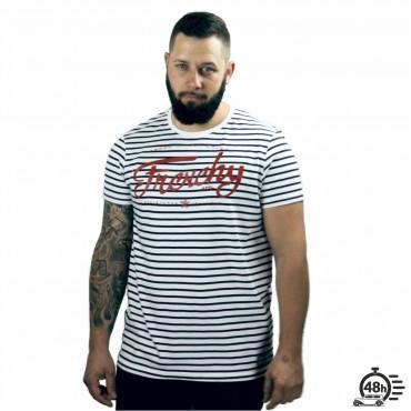 Tshirt LETTERING marinière MC UNISEXE