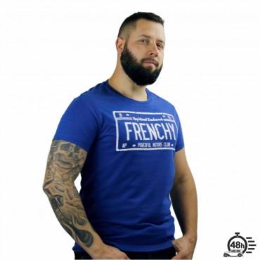 Tshirt LICENCE PLATE bleu chiné MC