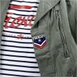 Real Military F2 Jacket LICENCE PLATE Kaki