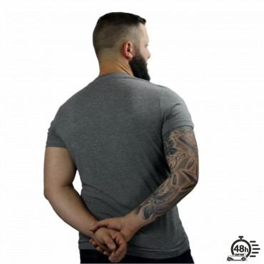 Tshirt ROSE SKULL grey SS