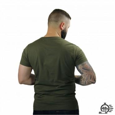 Tshirt ROSE SKULL kaki SS