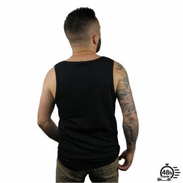 Tank ROSE SKULL black