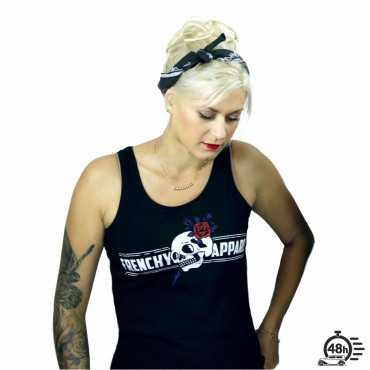 Tank ROSE SKULL black women