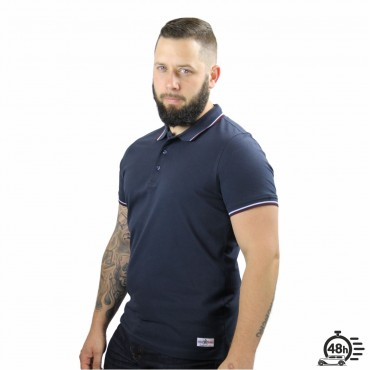 Polo LETTERING navy & bordeaux