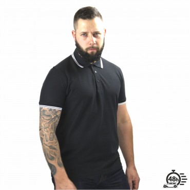 Polo RESPECT SKULL black limited serie