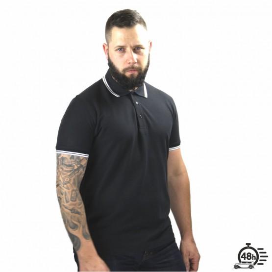 Polo RESPECT SKULL black limited serie