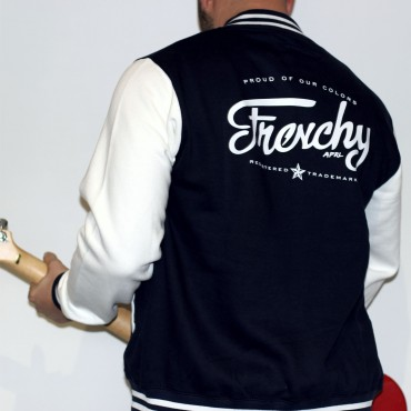 Jacket LETTERING varsity teddy navy MIXED