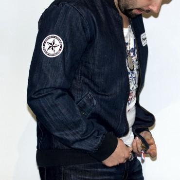 Jacket LETTERING denim MIXED