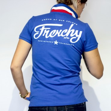 Polo LETTERING tricolore Femme