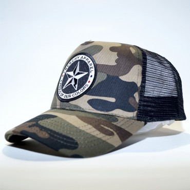 Cap Trucker STAR black and olive