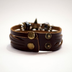 Bracelet réglable STAR marron