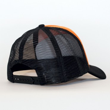 Casquette Trucker NAME orange & black