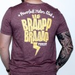 Tshirt BRAP bordeaux short sleeves