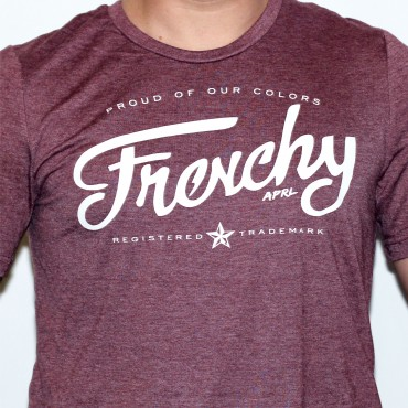 Tshirt LETTERING bordeaux short sleeves