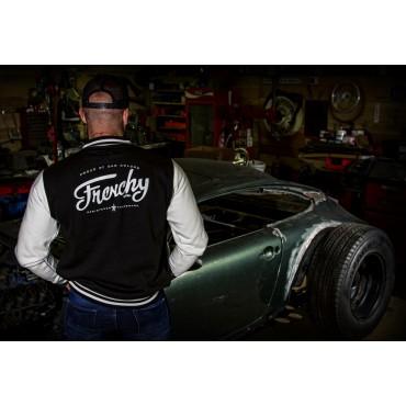 Jacket LETTERING varsity teddy black MIXED